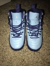 100% authentic d70db e1c3a AIR JORDAN RETRO 12 XII YOUTH GIRLS WOMENS GS PURPLE DUST SKY HORNETS