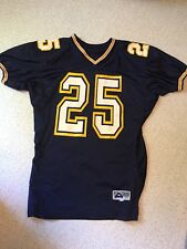 Game Worn High School Football Jersey Men's Xl Los Angeles Chargers Colors