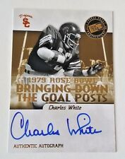 2008 PRESS PASS LEGENDS CHARLES CHARLIE WHITE AUTO #/150 USC TROJANS ROSE BOWL