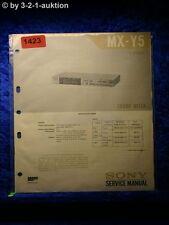 Sony Service Manual MX Y5 Sound Mixer (#1423)
