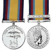 British Medal GULF WAR 1990-1991 with JAN-FEB CLASP - FULL SIZE UK Made Award