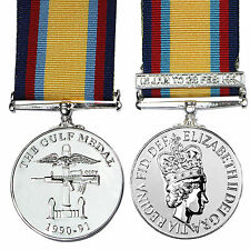 British Medal GULF WAR 1990-1991 with JAN-FEB CLASP - FULL SIZE UK Made Award