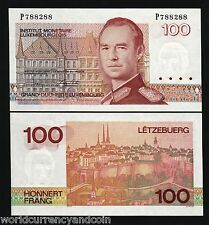 LUXEMBOURG 100 FRANCS P58 1993 EURO LETTER UNC GRAND DUKE CURRENCY BILL BANKNOTE