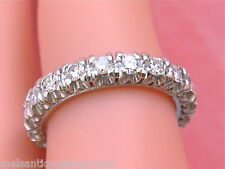 VINTAGE 1.25ctw TRANSITIONAL CUT DIAMOND PLATINUM ETERNITY BAND RING 1950 sz5.5
