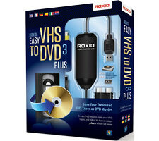 Roxio Easy VHS to DVD 3 Plus Converter For Video Tapes Convert Transfer Tool