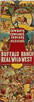 Cowboys, Cowgirls, Indians  by Anonymous Vintage Western Poster 12 x 36 Canvas ❤