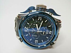 Invicta Men's Russian Diver Black Blue Retrograde Day Swiss Made 12439 52mm