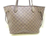 Auth LOUIS VUITTON Neverfull MM N51105 Ebene Damier SA2142 Tote Bag