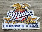 """Vintage Large Miller Brewing Company Patch 7.75""""x5.5"""" NEW Unused Sew On Scarce"""