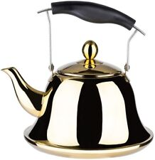 Whistling Tea Kettle with Infuser for Loose Leaf Tea Stainless Steel Modern Whis