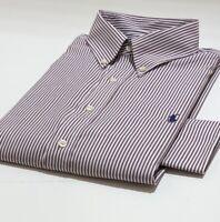 Ralph Lauren Mens Performance Shirt Classic Long Sleeve white/Brown Stripe XP