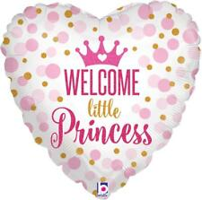"""18"""" WELCOME BABY SHOWER LITTLE PRINCESS PINK GIRL BORN HELIUM FOIL BALLOON 36713"""
