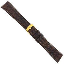 18mm Morellato Brown Genuine Leather Bison Grain Stitched Watch Band Regular 826