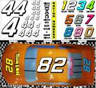WHITE  (#4's) Racing Numbers Vinyl Decal  Sheet 1/8 - 1/10 -1/12 RC Bolink