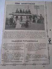 Idée Américaine à Denver Tramway seul et avec un Cheval Image Print 1909