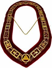 REGALIA MASONIC ROYAL ARCH MARK MASTER METAL CHAIN COLLAR ~~~~~