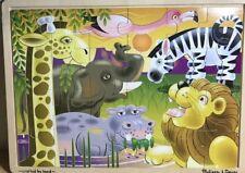 Melissa & Doug Fresh Start 24 Piece Wooden Jigsaw Puzzle - African Plain - #2937