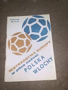 UEFA EURO 1976 Poland v Italy 26 October 1975  programme