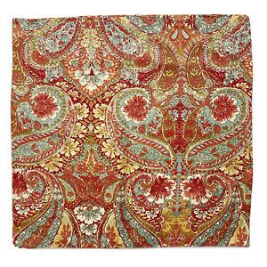 "Pottery Barn Bella Paisley Linen Blend 24"" Euro Pillow Covers - SET OF 2 - NWOT"