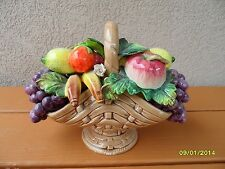 Porcelain Fruit Basket - Handmade Painted