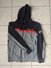 PUMA BMW Motorsport Hoodie Sweatshirt Jacket Grey Navy Full Zip Adult L