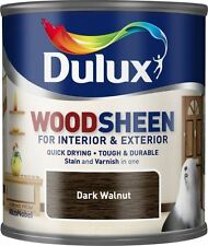 Dulux Stain & Varnish Interior & Exterior Woodsheen 250ml - Dark Walnut