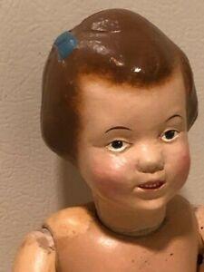 """15"""" Schoenhut blue bow girl"""