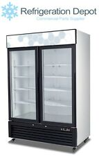 Migali C-49Rm-Hc - Glass Door Merchandiser - Two Door Refrigerator 49 cu/ft