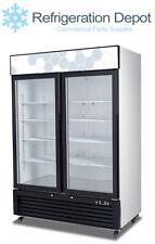 Migali C-49FM Glass Door Merchandiser - Two Door Freezer 49 cu/ft