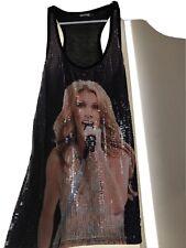 Celine dion racerback shirt sequins Size m women
