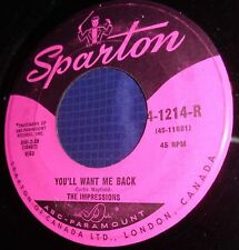 MB794 The Impressions You'll Want Me Back / It's All Right 45 RPM Record