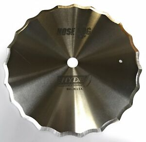 """HYDE INDUSTRIAL BLADE SOLUTIONS 8"""" HOSE SLITTER BLADE, WAVY SCALLOP EDGE 5/8""""ARB"""