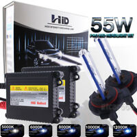 55W Headlight High Low Fog Light Xenon HID Conversion Kit For 99-15 GMC Sierra