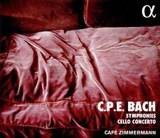 Carl Philipp Emanuel Bach : C.P.E. Bach: Symphonies/Cello Concerto CD (2018)