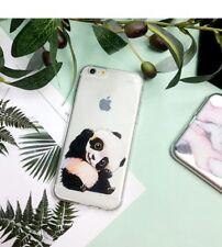 Panda Phone Case for iPhone 5 5s SE 6 6s SE 7 7plus 8 8plus X Transparent Design