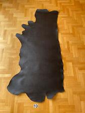 Veg Tan Leather 2,2-2,8mm Black Finished Side 2,1m2 Full Grain Premium Quality