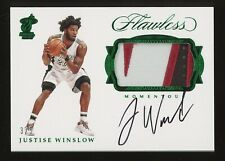 2016-17 Panini Flawless Emerald Justise Winslow RPA RC Patch AUTO 3/5