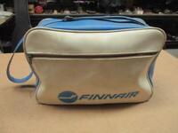 vintage Finnair Airlines Luggage Carry On Bag