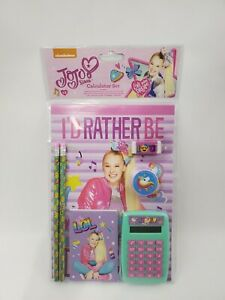 New JoJo Siwa 7 Piece Calculator Stationery Set School Supplies
