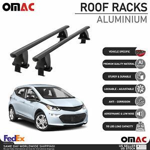 Fits Chevrolet Bolt EV 2017-2021 Smooth Roof Rack Cross Bar Carrier Rail Black