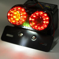 Motorcycle Rear Stop Led Racer Red Bobber Signal 12v Light Tail Turn Brake Dual