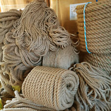 Braided Twisted 6mm-40mm Natural Jute Hessian Rope Decking Garden Sash Rope Cord