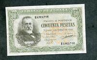 BILLETE 50    PESETAS 1940   serie  D 9809718    EBC - MUY BUEN APRESTO