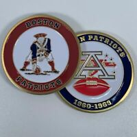 BOSTON PATRIOTS AFL NFL 1960-1969 COMMEMORATIVE FOOTBALL CHALLENGE COIN