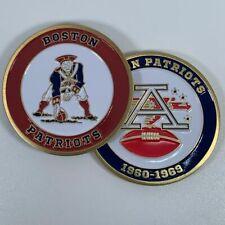 BOSTON PATRIOTS AFL NFL 1960-1969 COMMEMORATIVE FOOTBALL CHALLENGE COIN