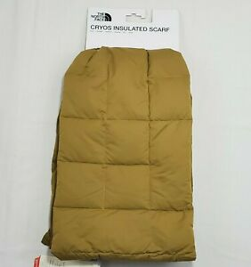 The North Face CRYOS Insulated Down Puffy Scarf Unisex Gold/ Yellow One Size