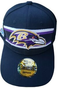 Baltimore Ravens New Era 9FIFTY NFL 2019 Thanksgiving Hook & Loop Hat Cap Black