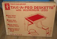 FACTORY SEALED VINTAGE 1960's TRANSOGRAM TOYS TAK a PEG DESKETTE PEG DESK MIB