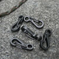 10pcs Mini Carabiner EDC Snap Spring Clips Hook Survival SF Keyring Pocket Tool