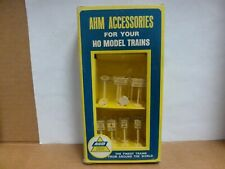 Ahm Accessories for Ho Scale Model Trains - Assorted Rr & Traffic Signs-#12-3